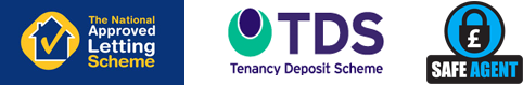 Approved letting Scheme, Safe Agent and Tenancy Deposit Scheme logos