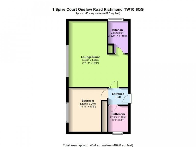 Floorplans For Spire Court, Onslow Road, Richmond