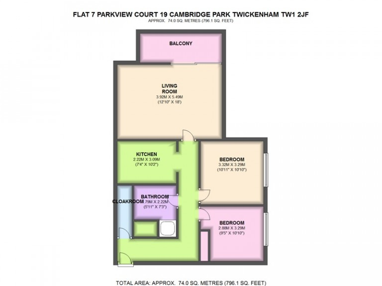 Floorplans For Parkview Court, Cambridge Park, East Twickenham