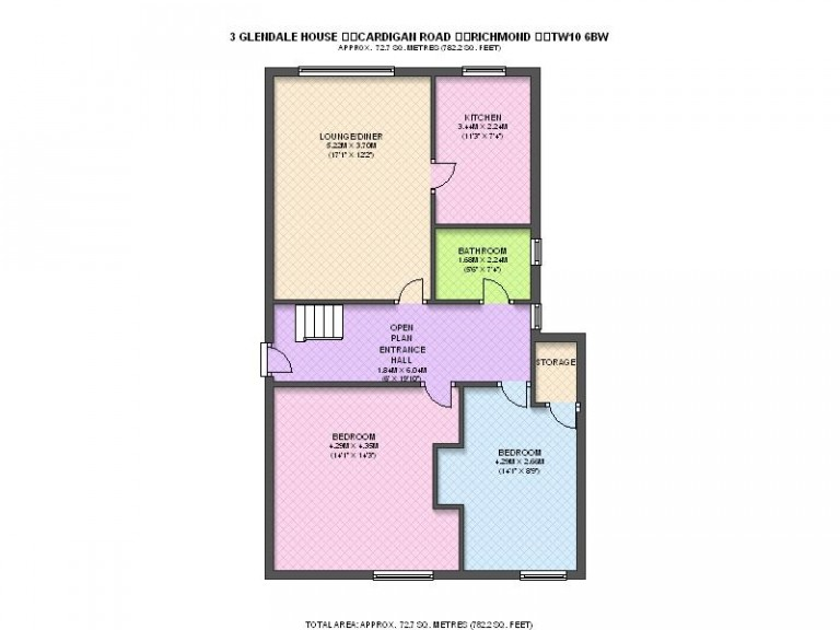 Floorplans For Glendale House, Cardigan Road, Richmond